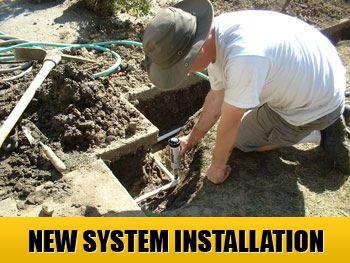 let our team install a brand new sprinkler system